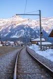 Ferrovia in alpi Fotografia Stock Libera da Diritti