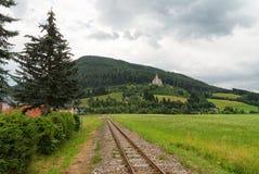 Ferrovia alpina, Tamsweg, Austria Immagine Stock
