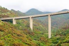 Ferrovia alta in montagne Immagini Stock