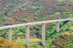 Ferrovia alta in montagne Fotografia Stock Libera da Diritti