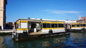 The Ferrovia boat stop in Venice, Italy. Stock Photography