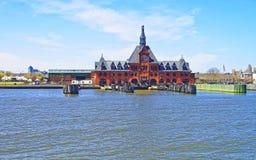 Ferrovia centrale del terminale del New Jersey in Hudson Waterfront fotografia stock