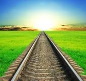 Ferrovia che va lontano Fotografia Stock