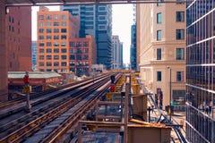 Ferrovia a cielo Fotografie Stock Libere da Diritti