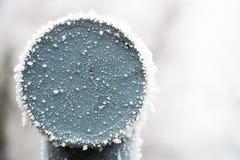 Ferrovia congelata sull'inverno fotografia stock libera da diritti