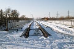 Ferrovia in costruzione Fotografia Stock Libera da Diritti