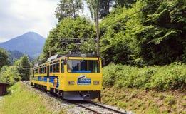 Ferrovia a cremagliera di Wendelstein Immagine Stock