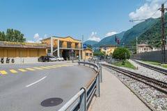 Ferrovia da estrada de ferro de Monte Generoso, Capolago, Suíça foto de stock royalty free