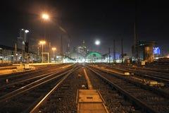 Ferrovia dalla stazione ferroviaria di Francoforte Fotografie Stock