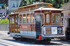 Ferrovia del calibratore per allineamento della cabina di funivia a San Francisco, S.U.A. Fotografia Stock