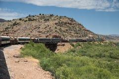 Ferrovia del canyon di Verde Fotografia Stock Libera da Diritti