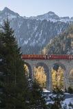Ferrovia del distretto di Albula Fotografia Stock Libera da Diritti