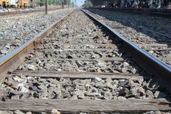 Ferrovia del fondo Fotografia Stock Libera da Diritti
