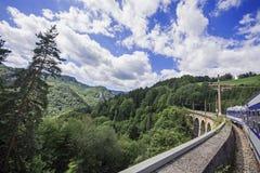 Ferrovia del patrimonio mondiale dell'Unesco di Semmering in Austria Fotografia Stock