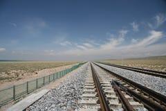 Ferrovia del Pechino-Tibet Fotografia Stock