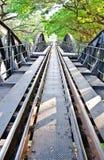 Ferrovia del ponticello di Kwai del fiume, Kanchanaburi Immagini Stock