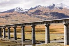 Ferrovia del Qinghai-Tibet Fotografie Stock Libere da Diritti