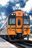 Ferrovia del treno Fotografie Stock Libere da Diritti