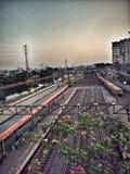 Ferrovia del treno Fotografia Stock Libera da Diritti