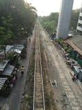 Ferrovia del treno di Bangkok Immagini Stock Libere da Diritti