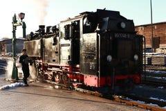 Ferrovia del vapore - choo-choo, Sassonia, Germania Fotografie Stock Libere da Diritti