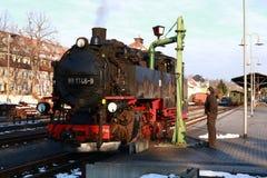 Ferrovia del vapore - choo-choo, Sassonia, Germania Fotografia Stock