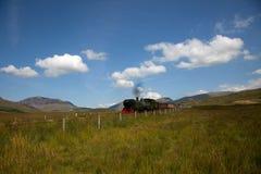 Ferrovia dell'altopiano di Lingua gallese Fotografia Stock