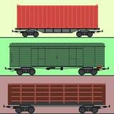 Ferrovia dell'automobile dei carrelli del treno senza barrare trasporto locomotivo del vagone di vettore del passeggero della fer Fotografia Stock Libera da Diritti