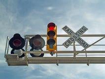 ferrovia dell'incrocio Immagini Stock Libere da Diritti