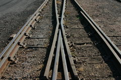 Ferrovia dell'incrocio fotografie stock libere da diritti