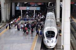 Ferrovia della Cina Pechino, ââRail ad alta velocità Fotografia Stock Libera da Diritti