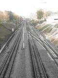 Ferrovia della città Fotografie Stock Libere da Diritti