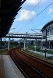 Ferrovia della curva fotografie stock
