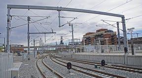 Ferrovia della luce di Denver Fotografie Stock