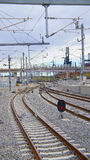 Ferrovia della luce di Denver fotografia stock libera da diritti