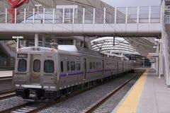 Ferrovia della luce di Denver Fotografia Stock