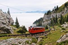 Ferrovia della montagna Fotografie Stock Libere da Diritti