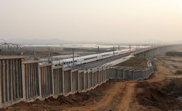 Ferrovia di alta velocità della Cina Fotografia Stock
