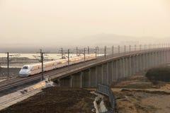 Ferrovia di alta velocità della Cina Immagine Stock