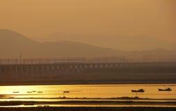 Ferrovia di alta velocità della Cina Fotografie Stock