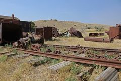 Ferrovia di Bannack Montana Ghost Town Immagine Stock