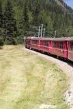 Ferrovia di Bernina Immagine Stock