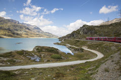 Ferrovia di Bernina Fotografie Stock