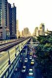 Ferrovia di BTS, Bangkok Fotografia Stock Libera da Diritti