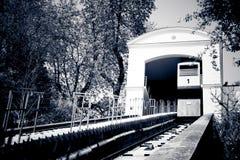 Ferrovia di cavo a Zagabria, Croatia immagini stock libere da diritti