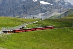 Ferrovia di dente anche chiamata come railw della cremagliera o della ferrovia a cremagliera Fotografie Stock Libere da Diritti