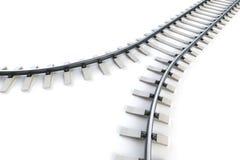 Ferrovia di divergenza Fotografia Stock Libera da Diritti