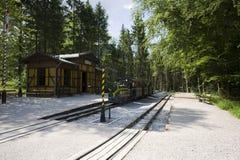 Ferrovia di eredità al Salzburger Freilichtmuseum fotografia stock libera da diritti