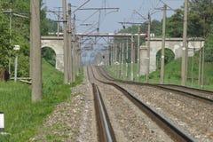 Ferrovia di estate Immagini Stock