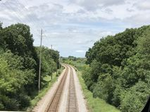 Ferrovia di infinito Fotografia Stock Libera da Diritti